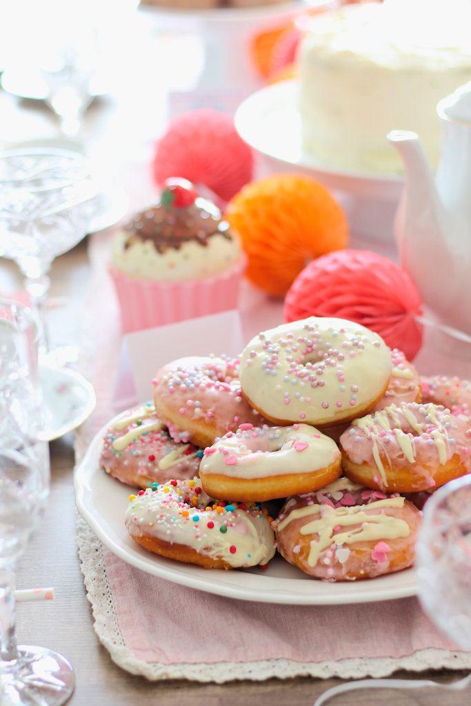 Rezept Donuts mit weißer Schokolade und Zuckerguss