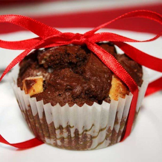 Rezept Double Chocolate Cherry Muffins