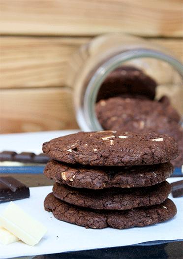 Rezept Double Chocolate Cookies