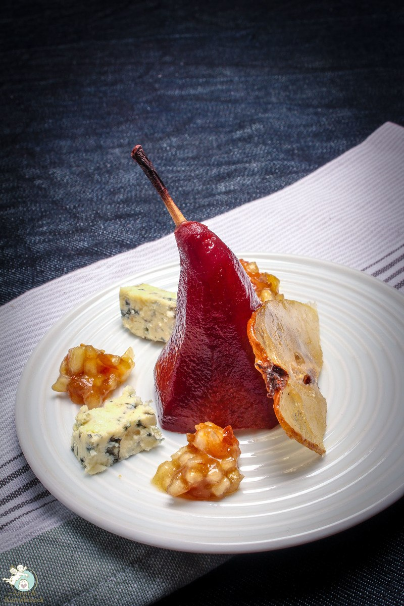 Rezept Dreierlei Birne - Portweinbirne mit Blauschimmelkäse