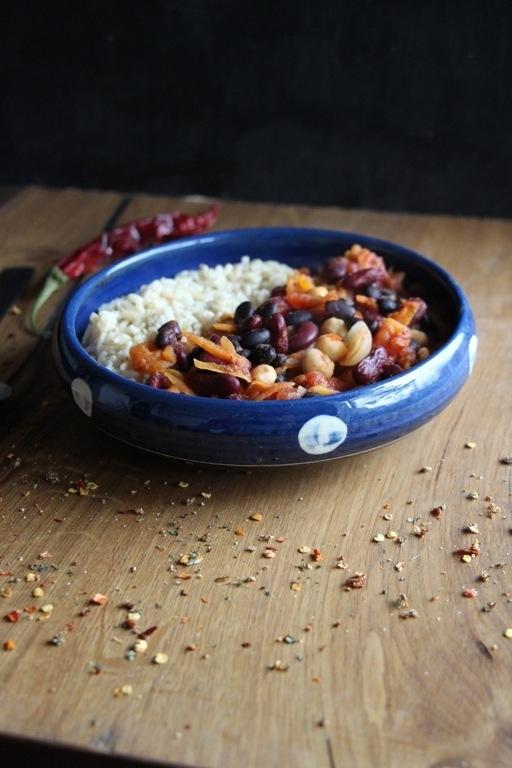 Rezept Dreierlei Bohnen Chili