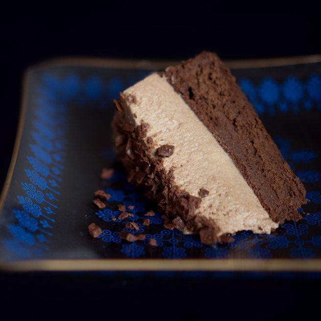 Rezept Dunkle Schokoladentorte mit Schoko-Orangen-Mousse