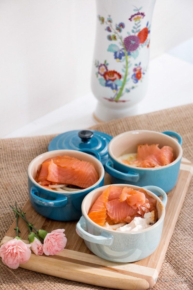 Rezept Eierfrühstück mit Räucherlachs