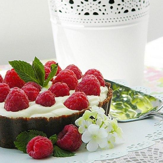 Rezept Einfache Himbeeren Torte