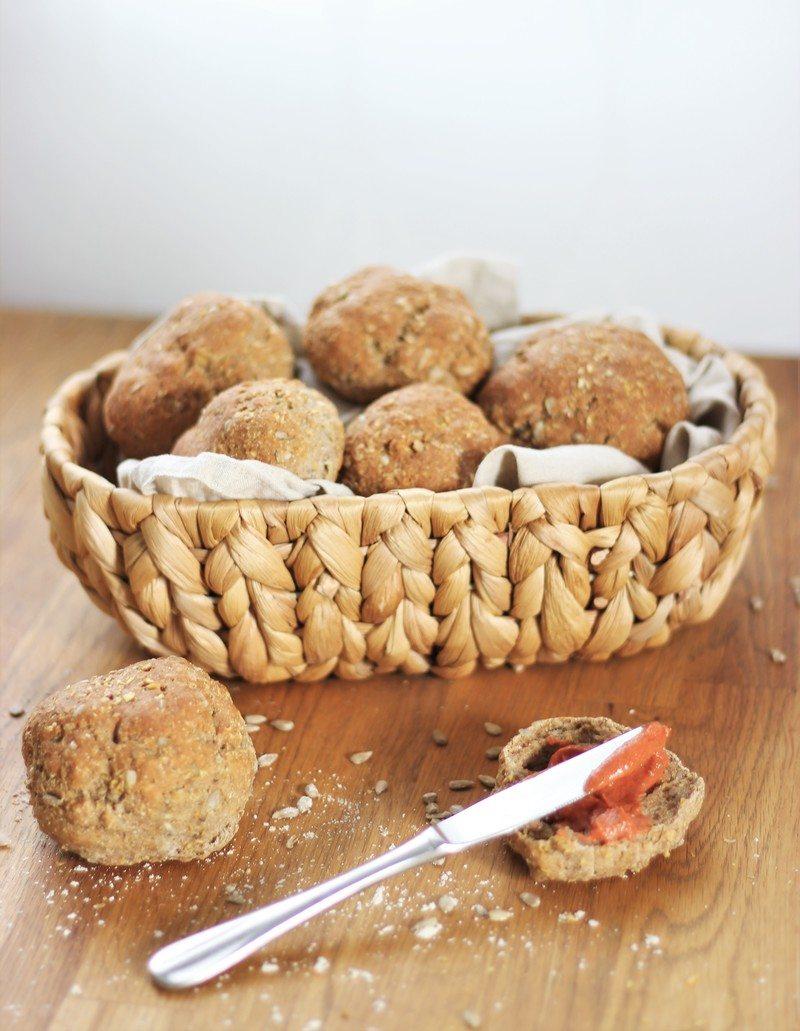 Rezept Einfache und glutenfreie Quarkbrötchen