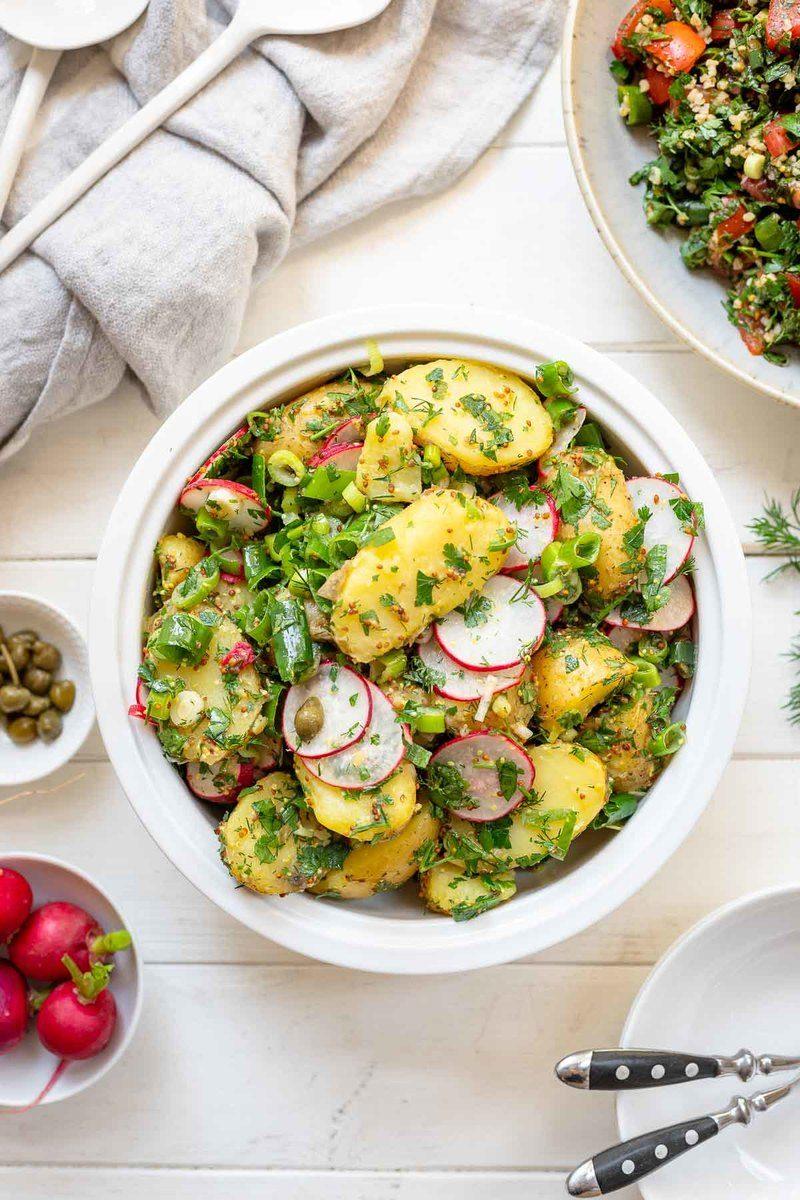 Rezept Einfacher Kartoffelsalat Rezept (ohne Mayo)