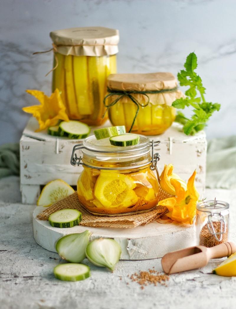 Rezept Eingemachte Zucchini, Gurken und Patissons