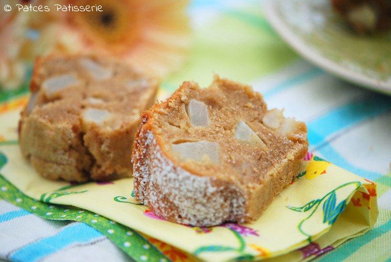 Rezept Einkorn-Kuchen mit Teffmehl, Birne & Zimt
