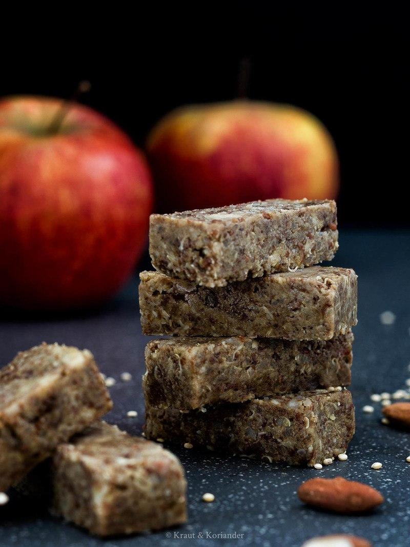 Rezept Energieriegel mit Apfel und Quinoa