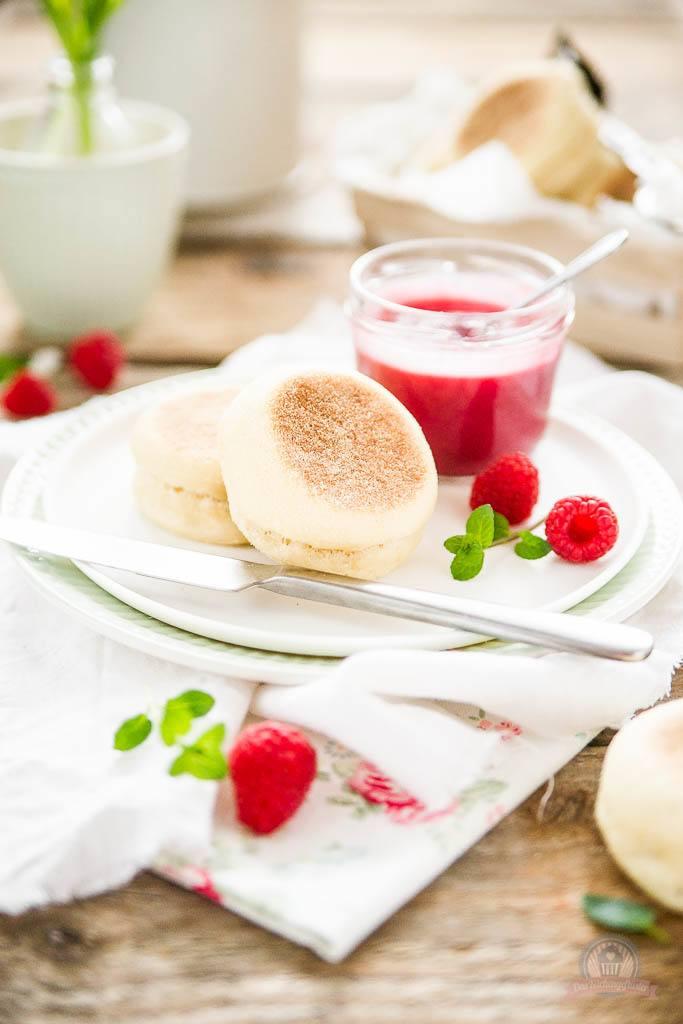 Rezept Englische Muffins mit Himbeer Curd