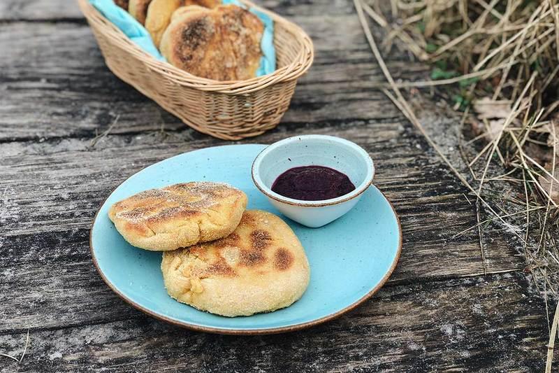 Rezept English Muffins in der Pfanne selber machen
