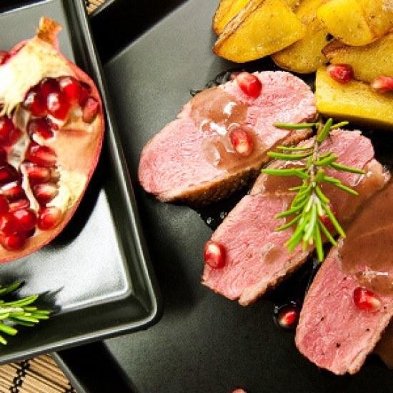 Rezept Entenbrust 80° C mit Granatapfel-Rotwein-Sauce Rezept