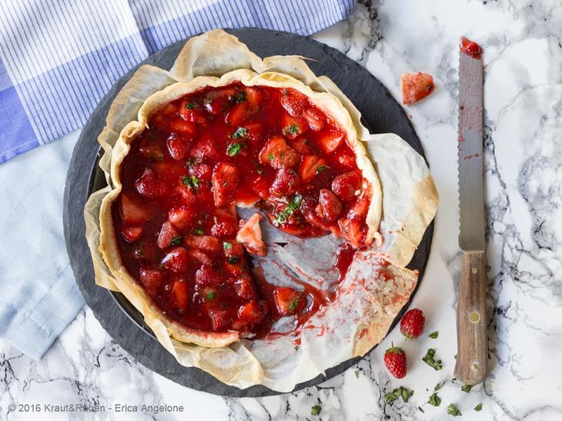Rezept Erdbeer-Basilikum-Tarte