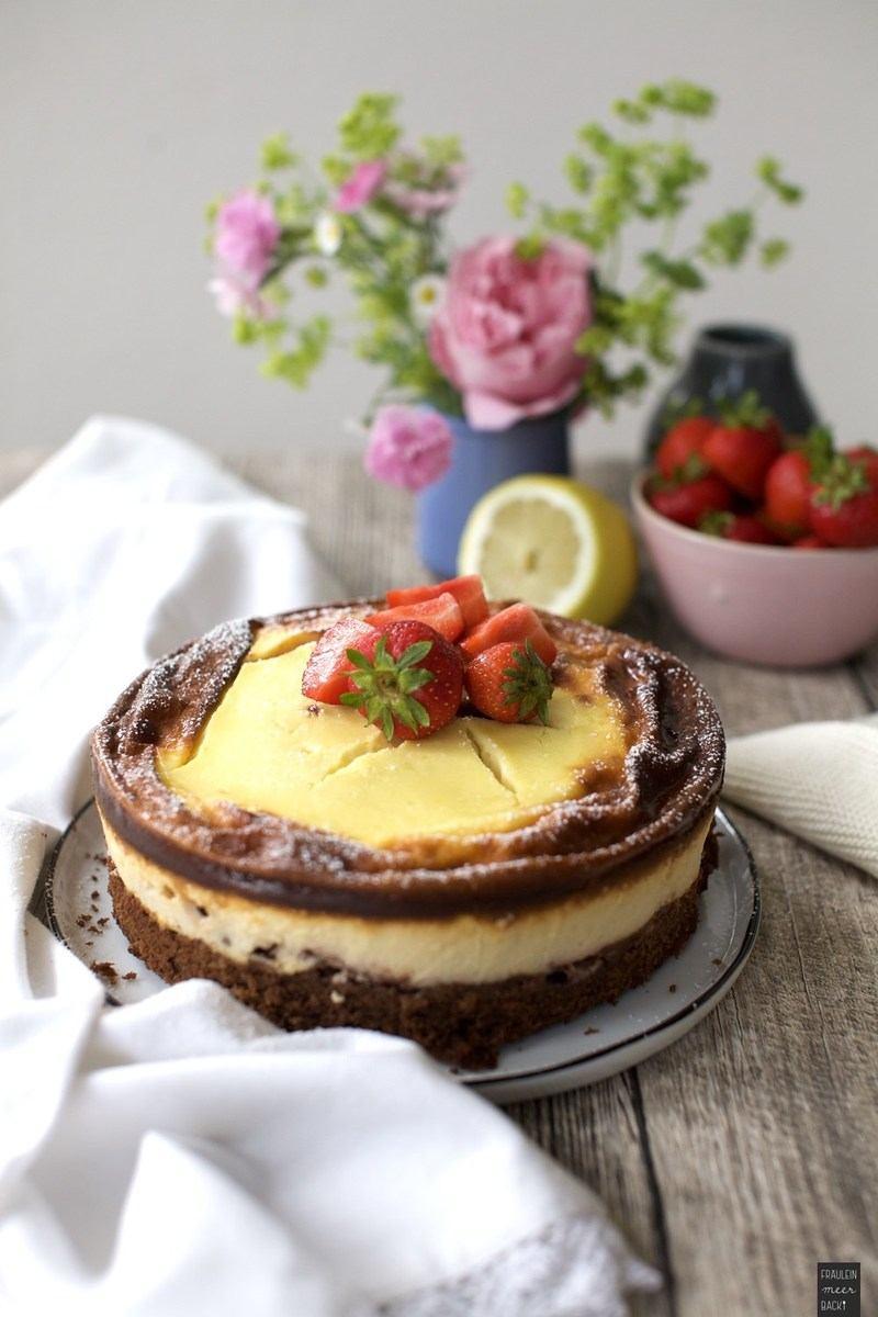 Rezept Erdbeer-Brownie-Käsekuchen
