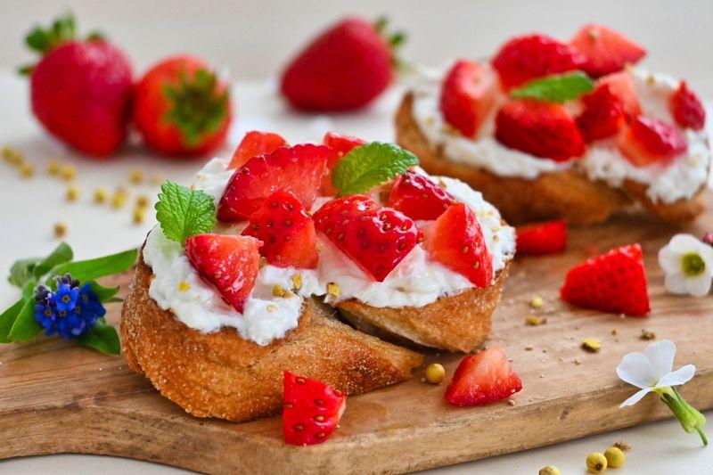 Rezept Erdbeer-Bruschetta mit Zitronenpfeffer