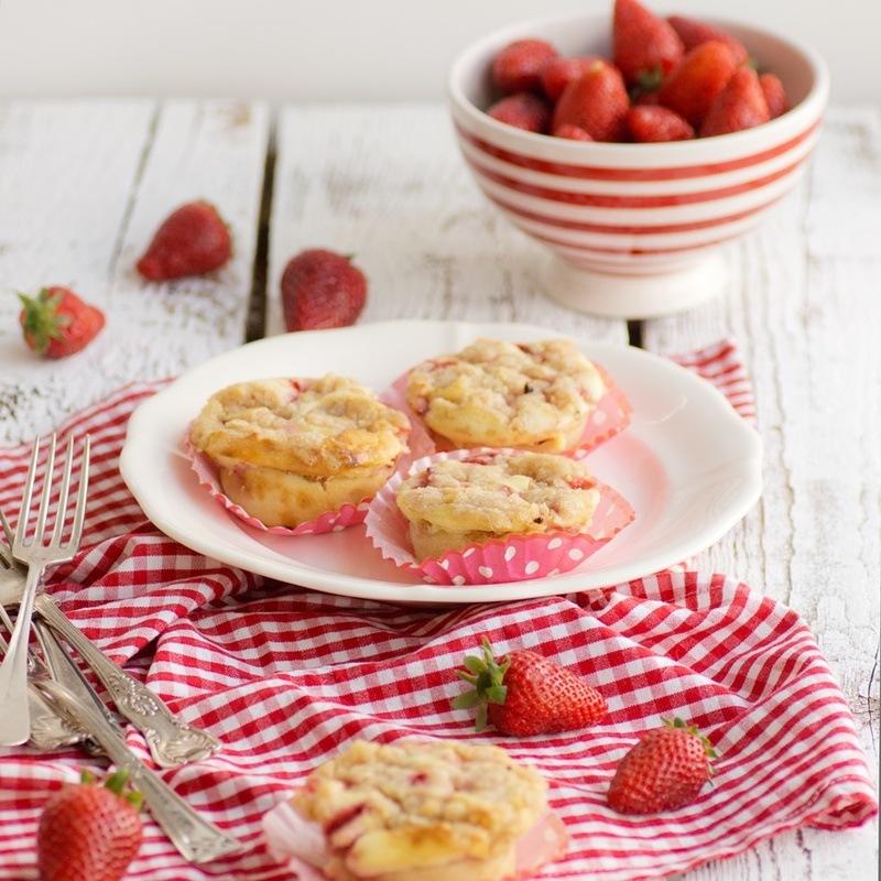 Rezept Erdbeer-Cheesecake-Muffins mit Streuseln