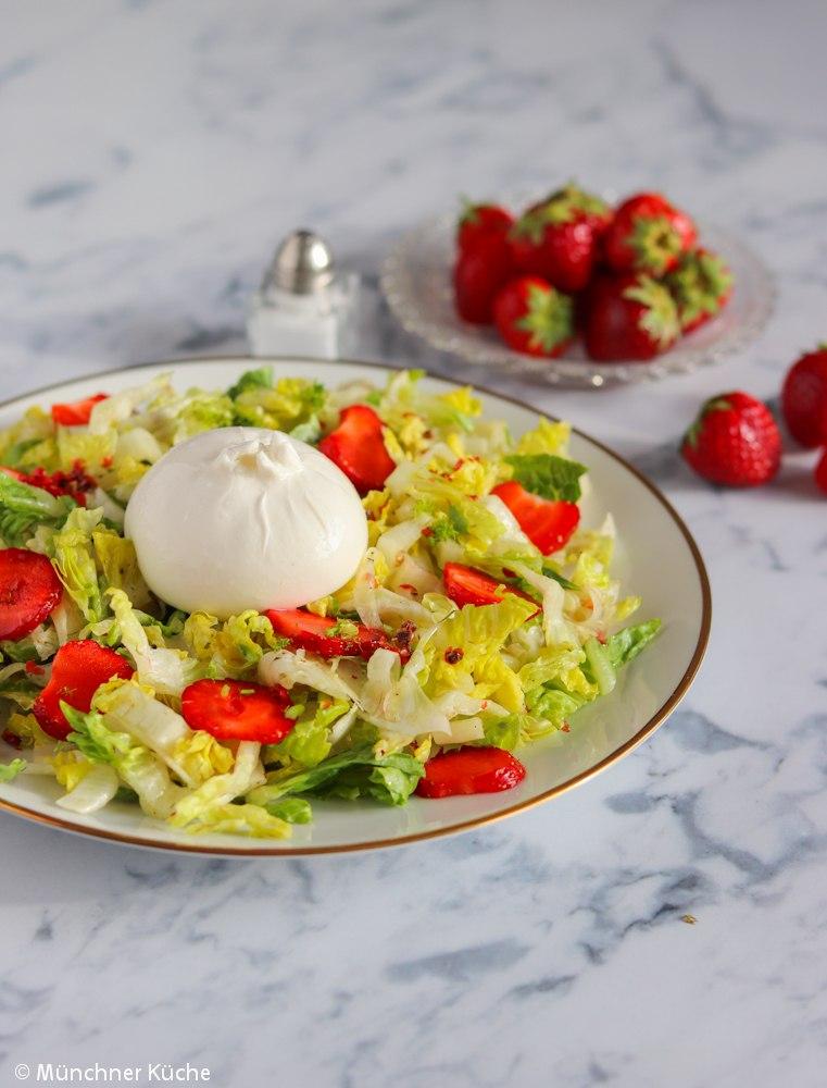 Rezept Erdbeer-Fenchel-Salat mit Burrata