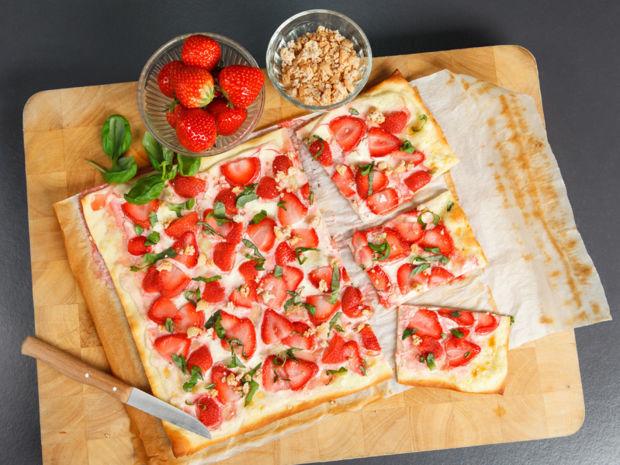Rezept Erdbeer Flammkuchen