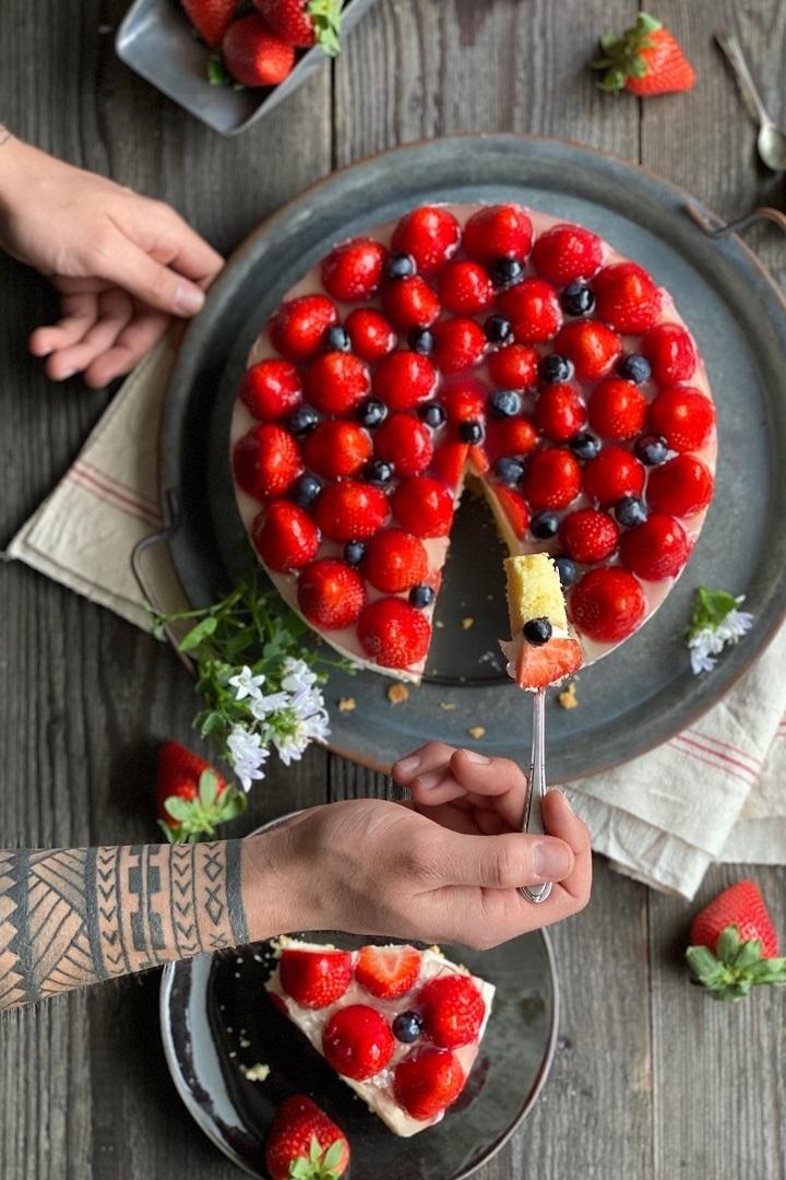 Rezept Erdbeer-Käse-Sahne Torte