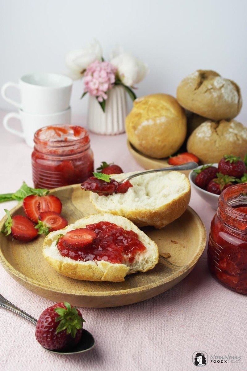 Rezept Erdbeer-Minze-Marmelade und Erdbeer-Holunderblüten-Marmelade