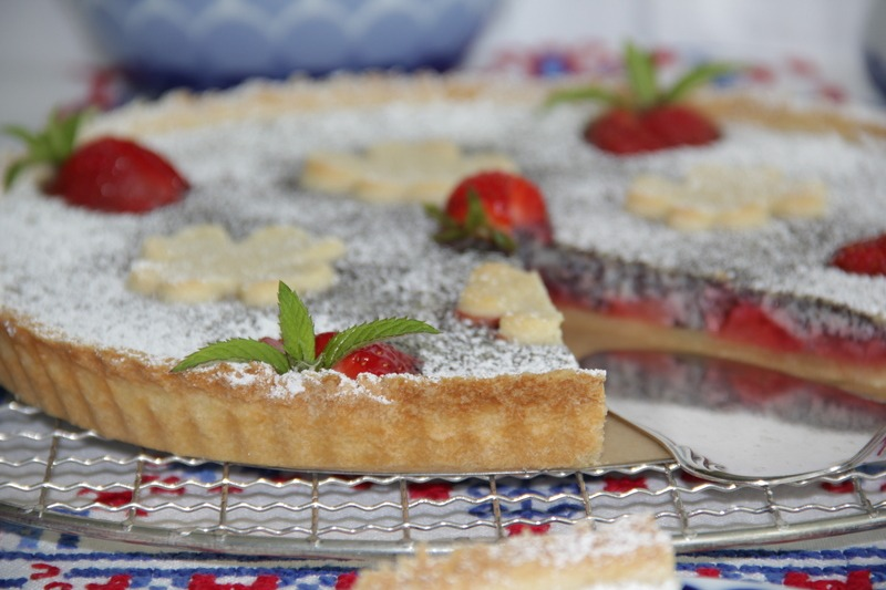Rezept Erdbeer-Mohn-Tarte