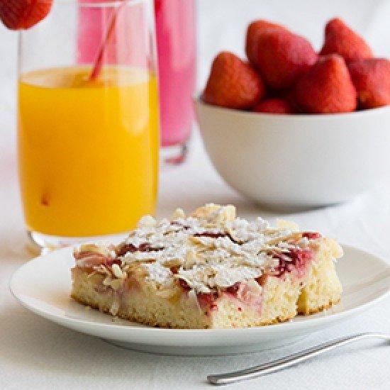 Rezept Erdbeer-Nektarinen-Blechkuchen