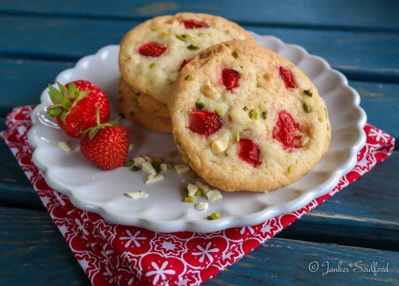 Rezept Erdbeer-Pistazien-Cookies