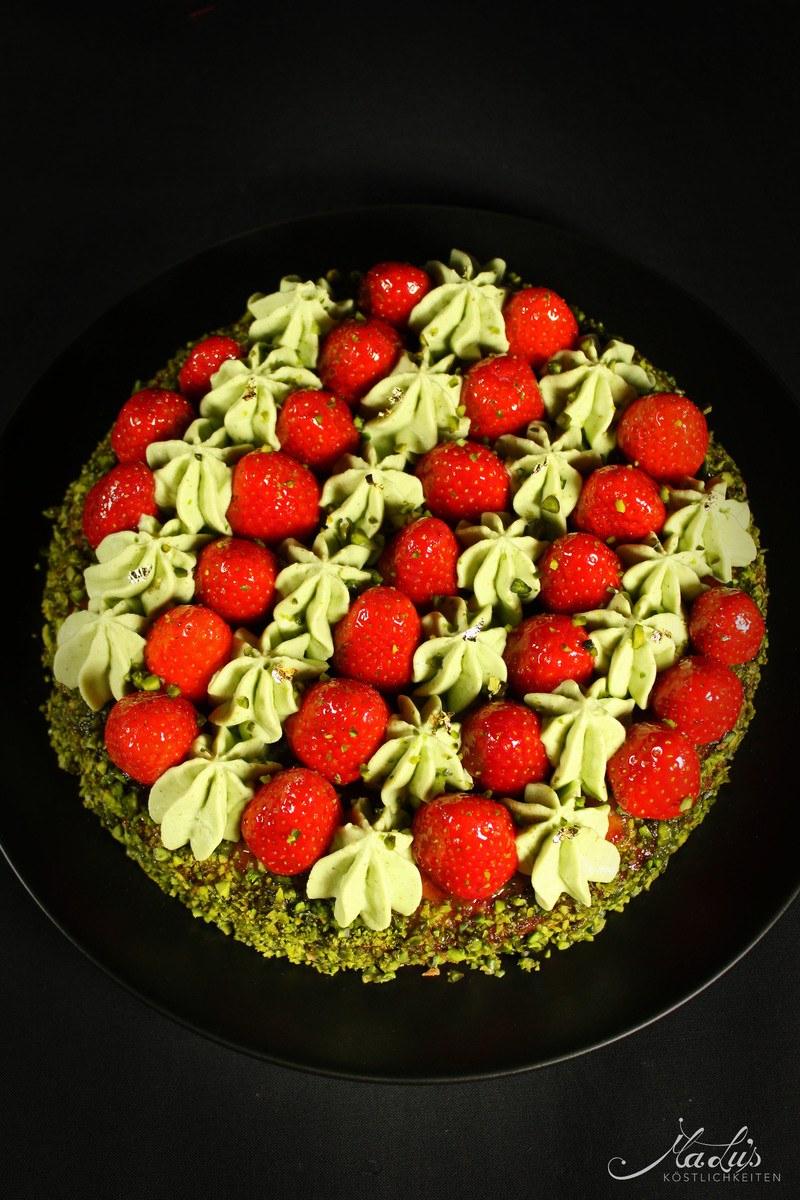 Rezept Erdbeer-Pistazien Torte