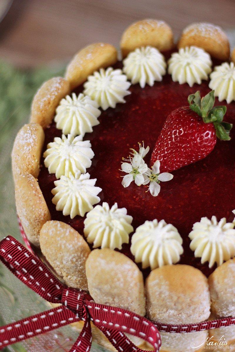 Rezept Erdbeer-Quark Charlotte