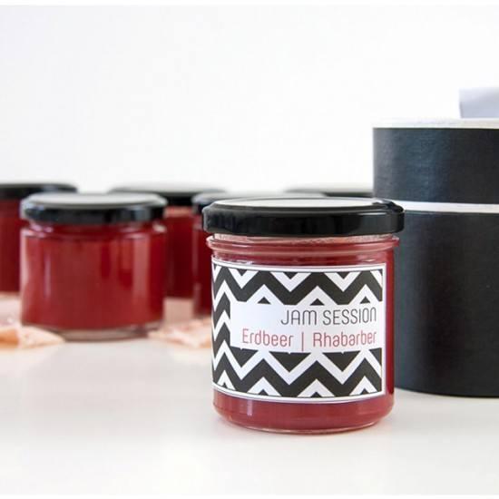 Rezept Erdbeer Rhabarber Marmelade mit Kick