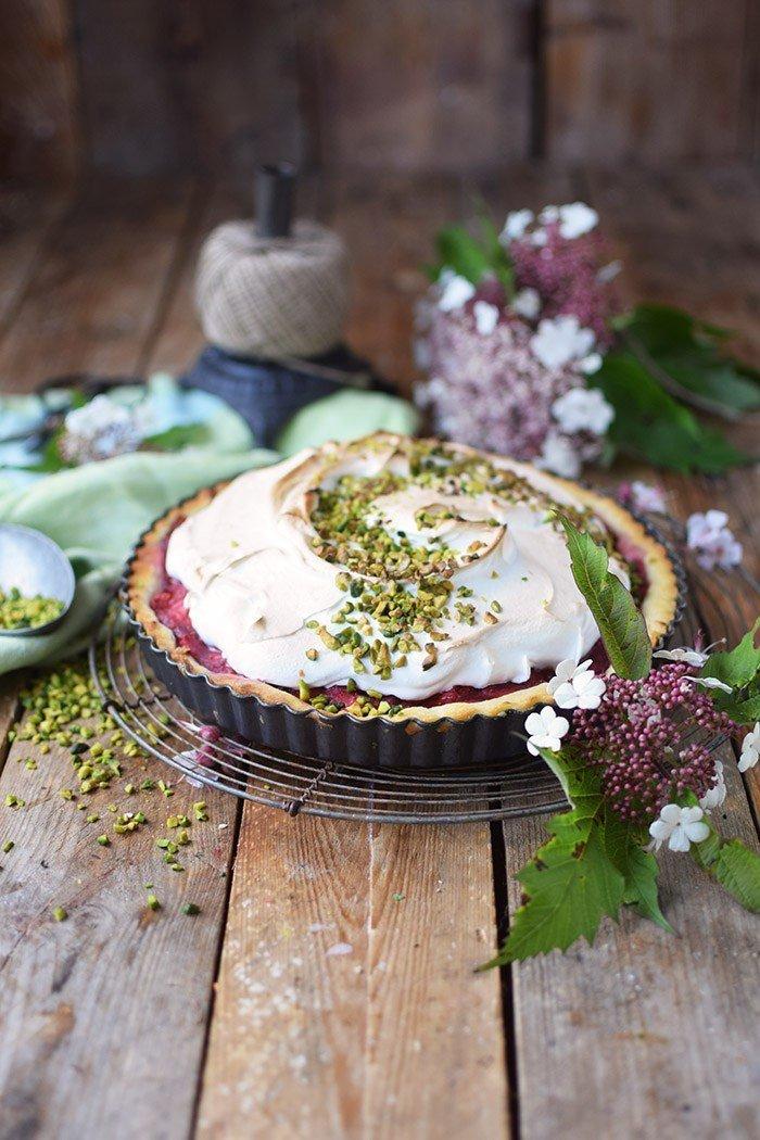 Rezept Erdbeer Rhabarber Meringue Pie