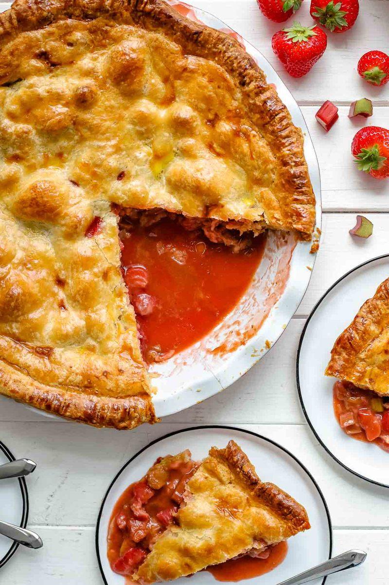 Rezept Erdbeer Rhabarber Pie