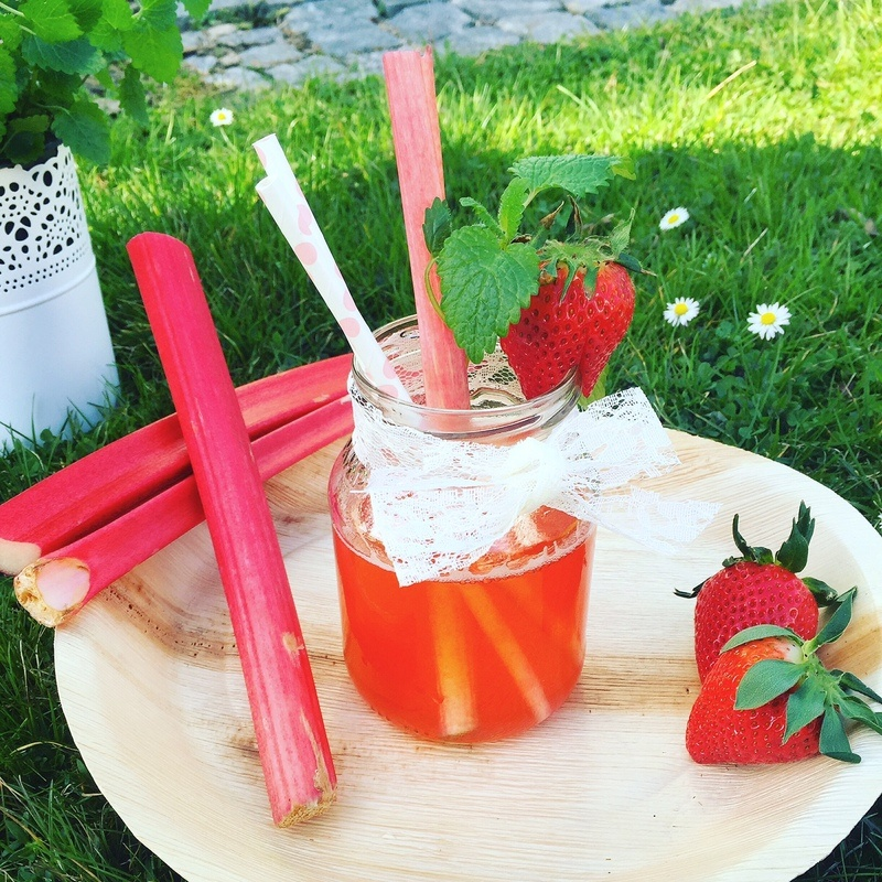 Rezept Erdbeer Rhabarber Sirup