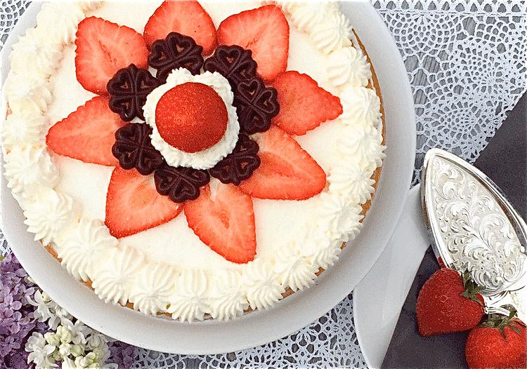 Rezept Erdbeer-Rhabarber-Torte