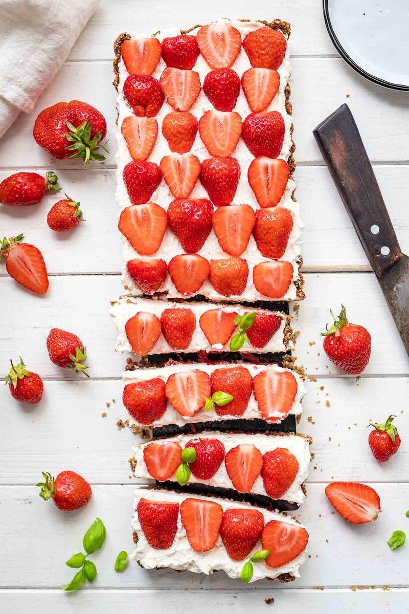Rezept Erdbeer-Tarte mit Mascarpone-Creme (glutenfrei)