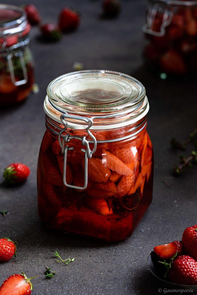 Rezept Erdbeer-Thymian-Essig
