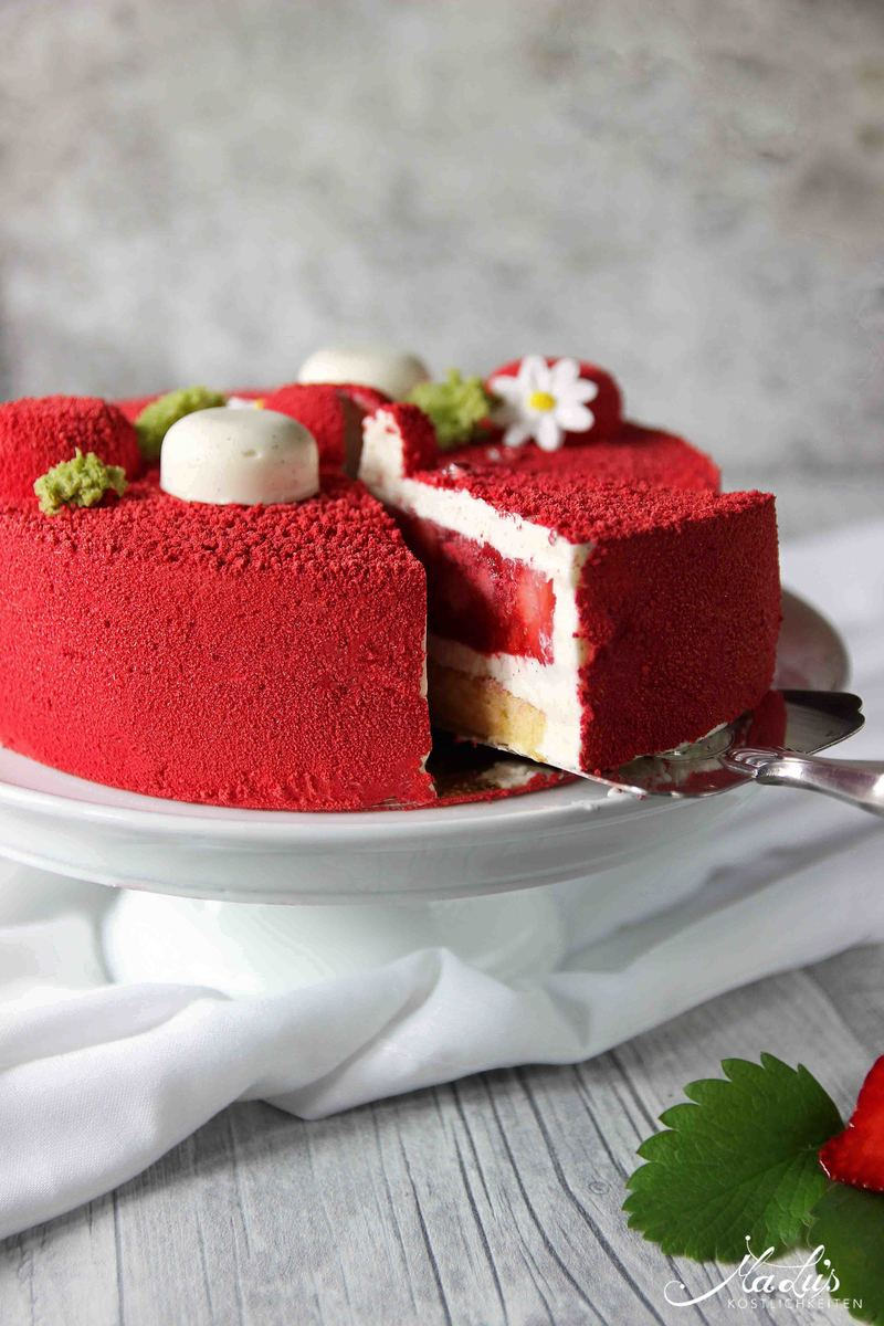 Rezept Erdbeer-Vanille Torte - Fraisier