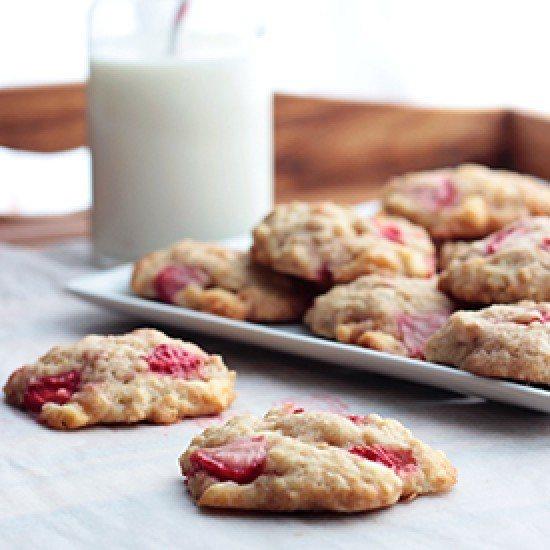 Rezept Erdbeer-Zitrone-Cookies mit weißer Schoki
