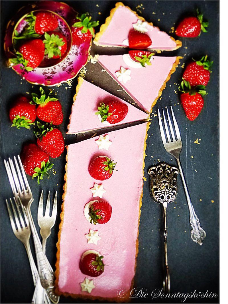 Rezept Erdbeere Colada Tarte