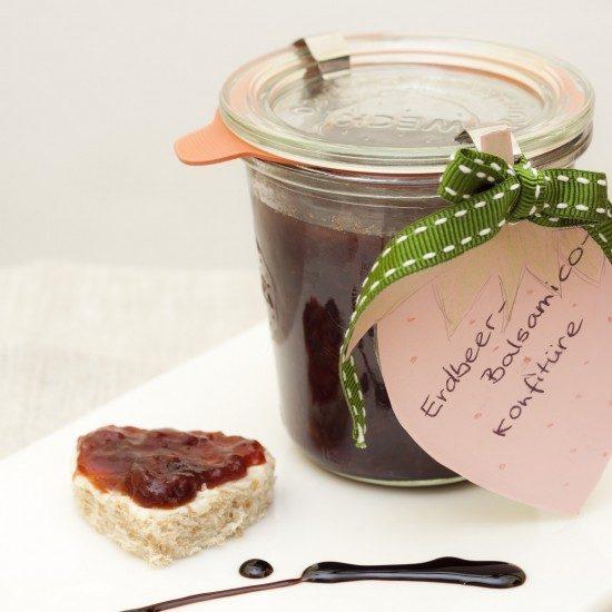 Rezept Erdbeerkonfitüre mit Balsamico