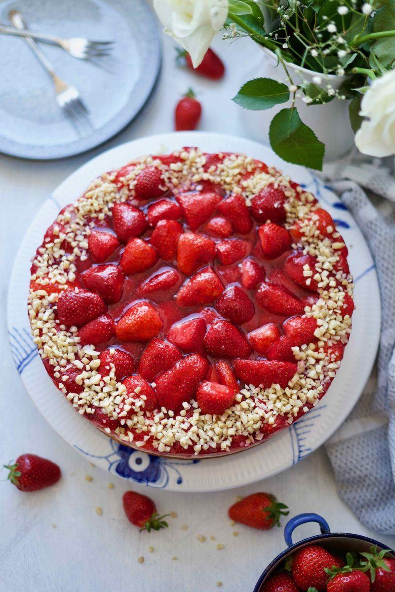 Rezept Erdbeerkuchen mit Puddingcreme und Tonkabohne