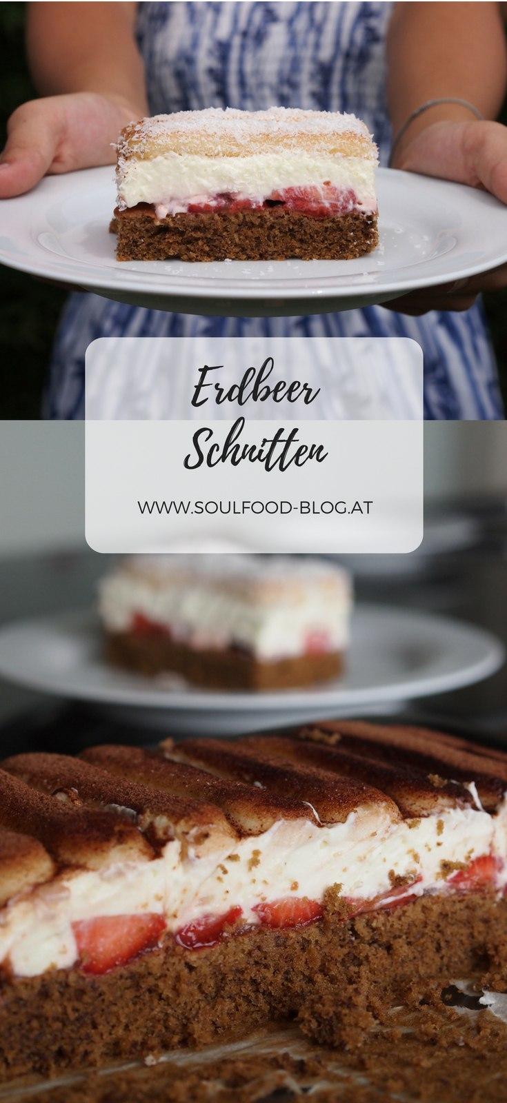 Rezept Erdbeerschnitten mit Schoko und Kokos