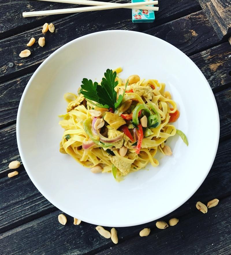 Rezept Erdnuss Huhn mit Gemüse