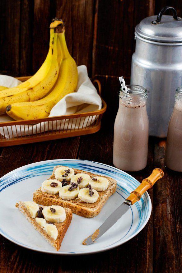 Rezept Erdnussbutter Bananen Toast