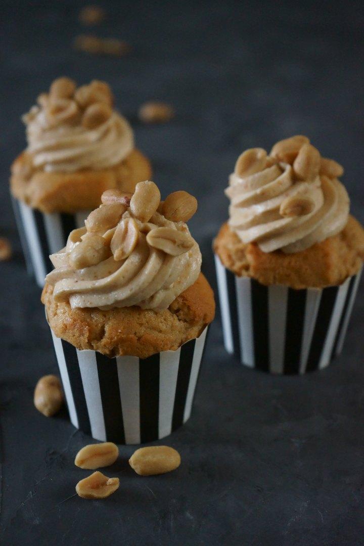 Rezept Erdnussbutter-Cupcakes mit Erdnusscreme