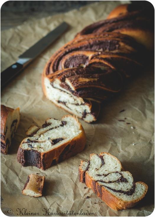 Rezept Erdnussbutter-Schoko-Hefezopf