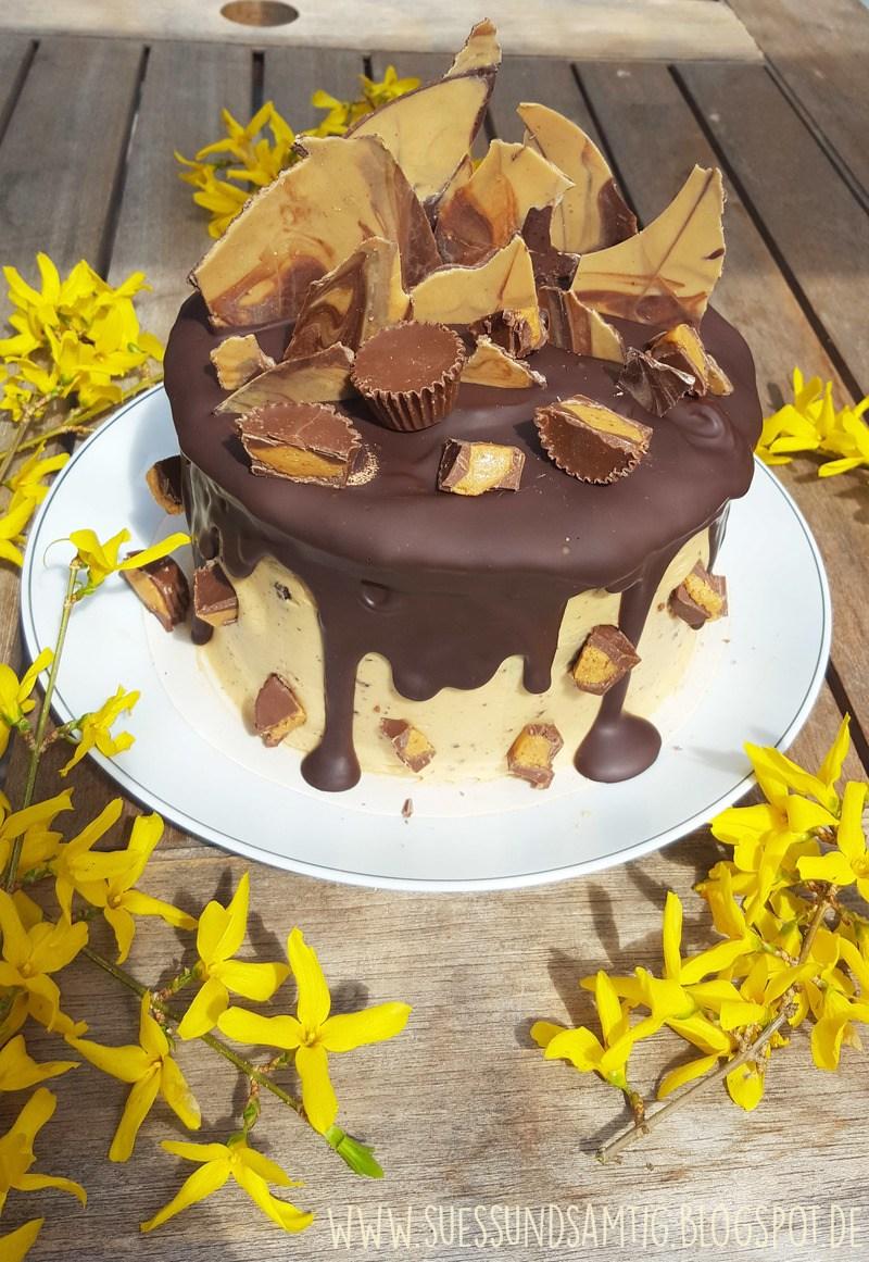 Rezept Erdnussbutter-Schoko-Torte