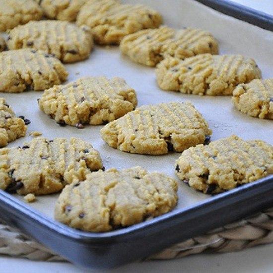 Rezept Erdnussbutter und Maismehl Kekse