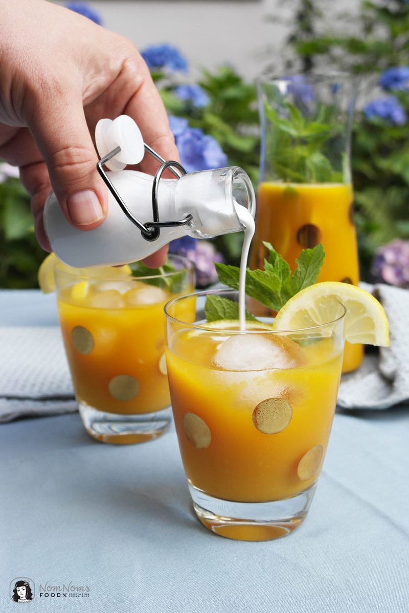Rezept Erfrischender Mango-Eistee mit Kokosmilch ❤