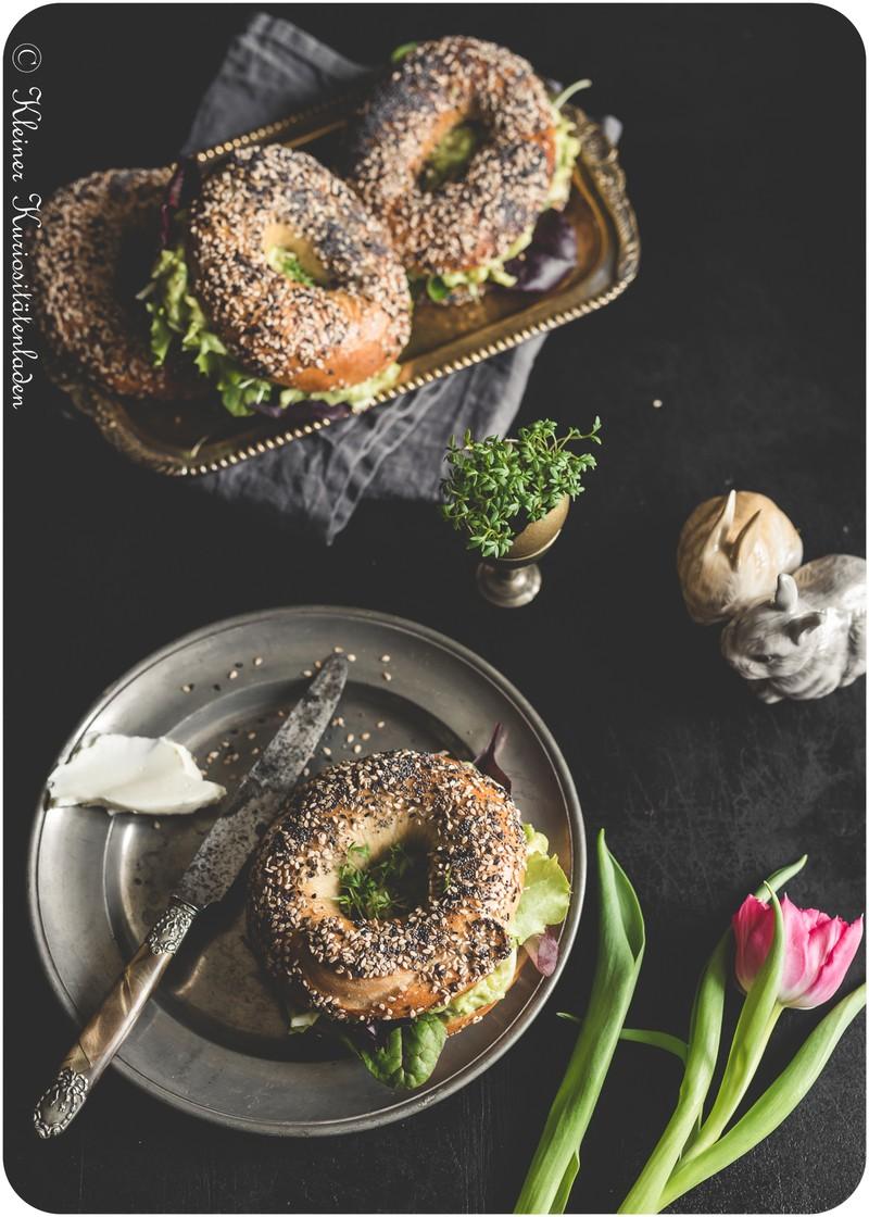 Rezept Everything Bagels mit Avocado-Eiersalat